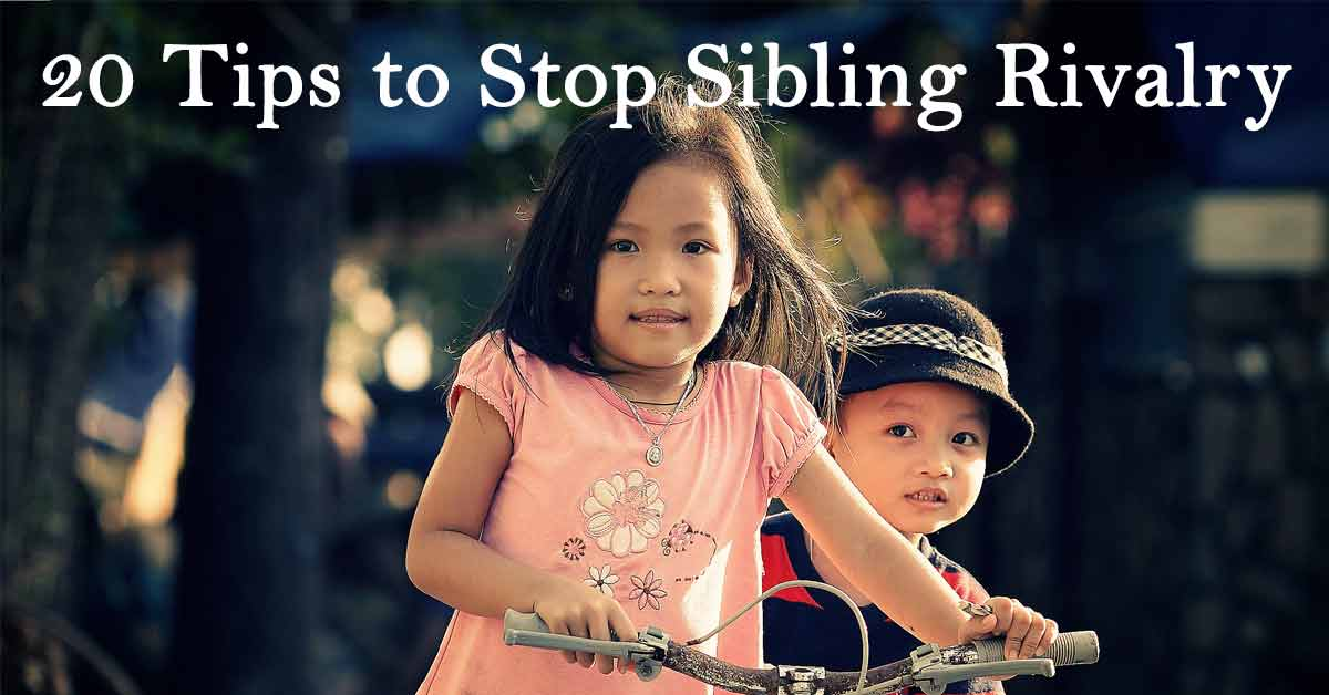 20 Tips to Stop Sibling Rivalry | Ask Dr  Sears