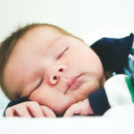 Baby sleeping on tummy