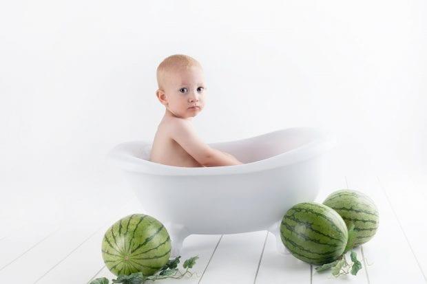 Baby bath tub watermelon