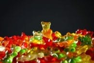 Gold bear gummi bears yellow