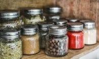 Herbs vitamins minerals jars