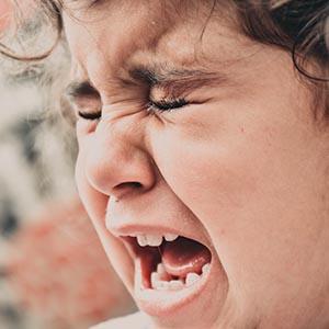 Older child having tantrum