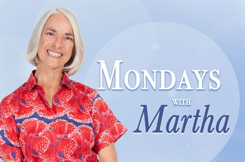 Picture of Martha Sears which links to Mondays with Martha blog.