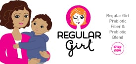 regular girl prebiotic fiber and probiotic blend for healthy natural balance