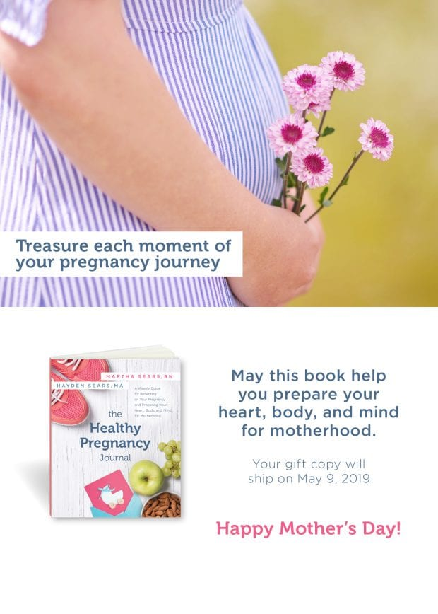 healthy pregnancy journal mother's day card digital download