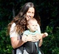 Alanis Morissette Babywearing
